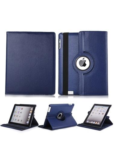Techmaster iPad 8 Nesil 10.2 Kılıf 360º Standlı Ayarlanabilir Kılıf Lacivert